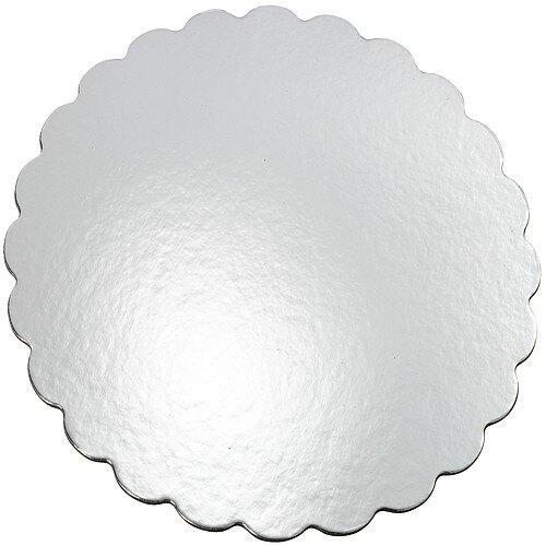 《Wilton》花邊蛋糕底盤8入(銀30.4cm)