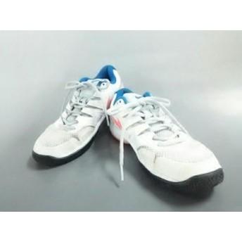 ナイキ NIKE スニーカー 24 レディース エアズーム プレステージ HC AA8024-164 白×オレンジ 化学繊維【中古】