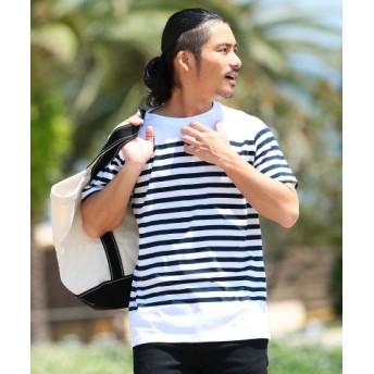 (JIGGYS SHOP/ジギーズショップ)制菌ボーダー&ブロッキングTシャツ/Tシャツ メンズ ティーシャツ 半袖 クルーネック ボーダー 制菌/メンズ その他系2