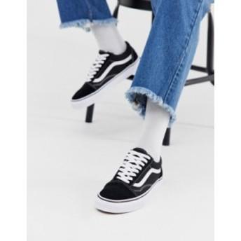 バンズ メンズ スニーカー シューズ Vans Old Skool Sneakers In Black/ White Black