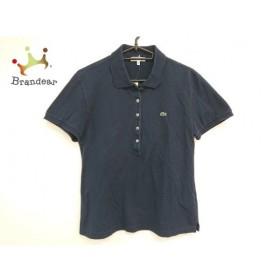 ラコステ Lacoste 半袖ポロシャツ サイズ44 L レディース ダークネイビー×マルチ  値下げ 20190929