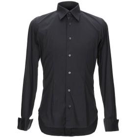 《送料無料》GIAMPAOLO メンズ シャツ ブラック 38 コットン 77% / ナイロン 18% / ポリウレタン 5%