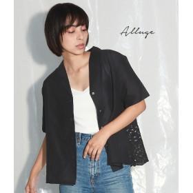 【セール開催中】ANAP(アナップ)キャンブリック後ろ刺繍開襟ブラウス