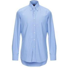 《期間限定セール開催中!》BAGUTTA メンズ シャツ アジュールブルー 43 コットン 100%