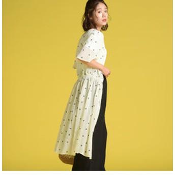 【J Lounge:ワンピース】星刺繍トッパーワンピース
