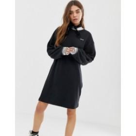 リーバイス レディース ワンピース トップス Levi's oversized sweat dress with logo cuffs Mineral black