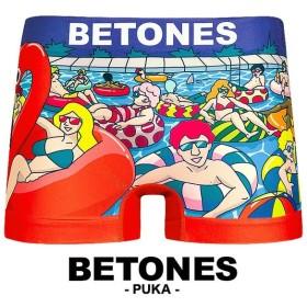 ボクサーパンツ メンズ ブランド シームレス フリーサイズ PUKA puka BETONES ビトーンズ 正規品