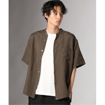 [マルイ]【セール】メンズシャツ(LINEN RAYON DYE バンドカラーショートスリーブ)/ジャーナルスタンダード(メンズ)(JOURNAL STANDARD MEN'S)