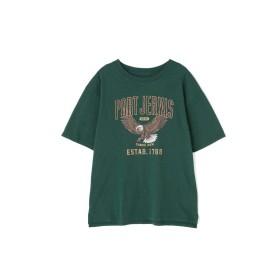 【公式/フリーズマート】イーグルプリントTシャツ/女性/カットソー/グリーン/サイズ:FR/コットン 100%