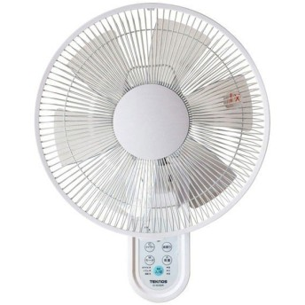 扇風機 テクノス 壁掛け扇風機 KI-W280R 30cm フルリモコン フラットガード 白 風量3段階 リモコン付き 切タイマー TEKNOS