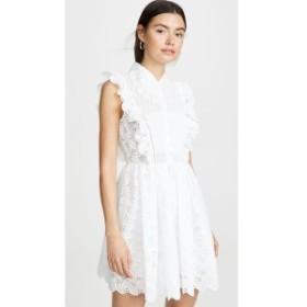 セルフ ポートレイト Self Portrait レディース ワンピース ワンピース・ドレス Leaf Broderie Anglaise Mini Dress Ivory