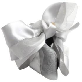 (cream dot/クリームドット)大人フェミニンに飾るかさなるリボンのヘアバンス/レディース グレー