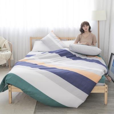 BUHO 雙人四件式舖棉兩用被床包組(樸居靜寓)