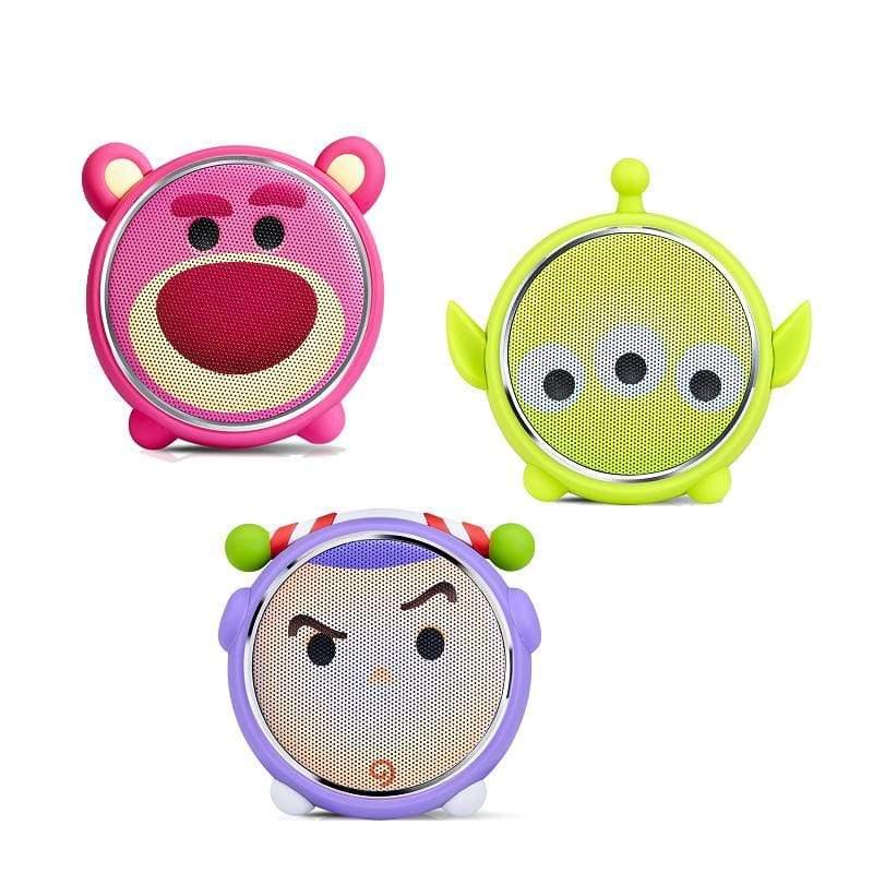 迪士尼TSUM TSUM玩音樂藍牙燈光喇叭(2入組) 三眼怪x1 熊抱x1