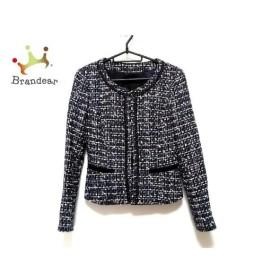 アンタイトル UNTITLED ジャケット サイズ1 S レディース 美品 黒×白×ライトブルー ラメ 新着 20190627