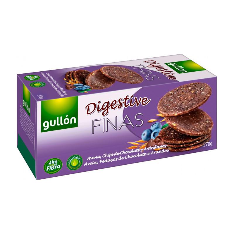 [西班牙Gullon榖優] 藍莓巧克力消化餅乾 (270g/盒) (蛋奶素)