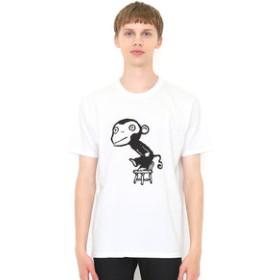 【グラニフ:トップス】Tシャツ/さるるるるイス(五味太郎)