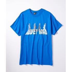 THE BEATLES 「アビーロード」Tシャツ メンズ ロイヤルブルー