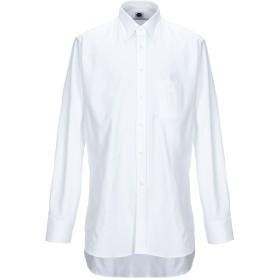 《期間限定セール開催中!》BAGUTTA メンズ シャツ ホワイト 45 コットン 100%