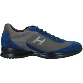 《セール開催中》HOGAN メンズ スニーカー&テニスシューズ(ローカット) ブルー 8.5 革 / 紡績繊維