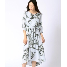 COMME CA / コムサ フラワープリントドレス