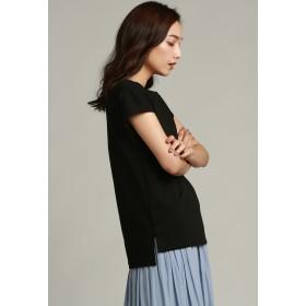 LAUTREAMONT 【WEB別注】アルビニシンプルこだわりカットソー Tシャツ・カットソー,ブラック