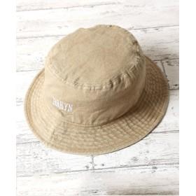 (JIGGYS SHOP/ジギーズショップ)ブルックリンロゴウォッシュバケット/バケット ハット サファリハット メンズ 帽子/メンズ ベージュ