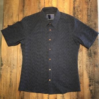 VARIOUS 刺し子 ランダムウッドボタン S/S シャツ 半袖 Sashiko Shirts w/wood butt