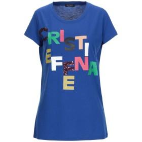 《期間限定 セール開催中》CRISTINAEFFE レディース T シャツ ブルー 48 レーヨン 51% / コットン 49%