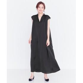 【オンワード】 FeteROBE(フェテローブ) 【洗える!】ヨーク切替ギャザー ドレス ブラック 9 レディース 【送料無料】