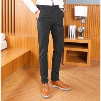 メンズスーツパンツ ギフト 紳士服 スリムチノパン スーツビジネス スラックス ボトムス カジュアル 通勤ウェア 春夏秋 3色