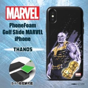iPhone XS iPhone X ハードケース PHFGSI18A-THS【0217】 MARVEL マーベル カード収納 サノス ROOX