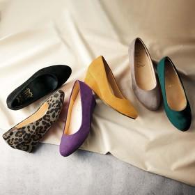GeeRA 4Eウェッジパンプス パープル 24.5cm レディース 5,000円(税抜)以上購入で送料無料 パンプス 夏 レディースファッション アパレル 通販 大きいサイズ コーデ 安い おしゃれ お洒落 20代 30代 40代 50代 女性 靴 シューズ