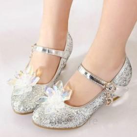 フォーマル 靴 女の子 フォーマルシューズ キッズ シューズ 子供 靴 キラキラ シルバー ピアノ発表会 靴 女の子 子供靴 入学式 結婚式