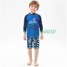 水着セット 男の子 2点セット 長袖 子供 ラッシュガード キッズ 夏物 ビーチ 温泉 可愛い スイミングウェア 新作 プール ショートパンツ