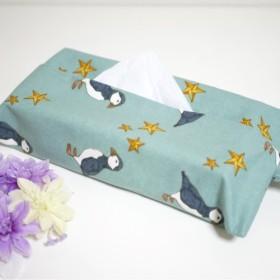 ボックスティッシュカバー☆ペンギンと星