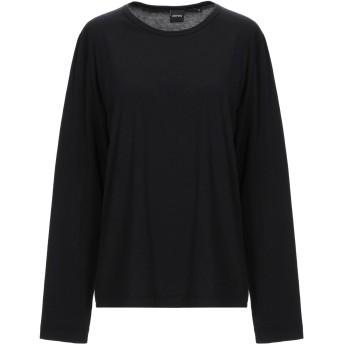 《期間限定セール開催中!》ASPESI レディース T シャツ ブラック S コットン 100%