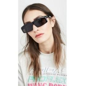 バレンシアガ Balenciaga レディース メガネ・サングラス Hybrid Acetate Narrow Sporty Sunglasses Black with Solid Grey Lens