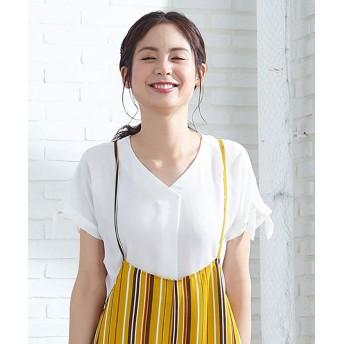 Tシャツ - Cutie Blonde アソート身頃切替 柄プルオーバー