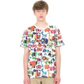 【SALE開催中】【グラニフ:トップス】Tシャツ/どうぶつだいすきパターン(五味太郎アニマルショートスリーブティー)
