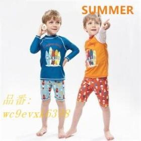 水着セット 男の子 2点セット 夏物 子ども 可愛い スイミングウェア 温泉 子供 キッズ 長袖 ショートパンツ ラッシュガード 新作 ビーチ
