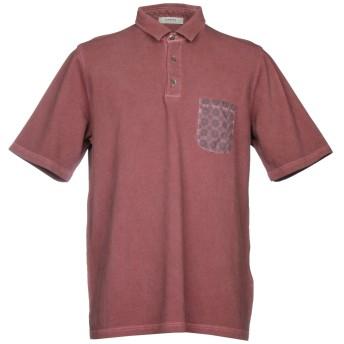 《セール開催中》ALPHA STUDIO メンズ ポロシャツ ボルドー 46 コットン 100%