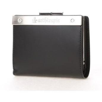 アルセラピィ artherapie ATメタルプレート 二つ折りがま口財布 (ブラック)