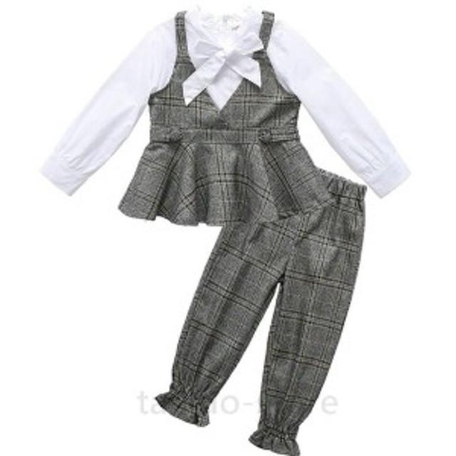 子供 パンツスーツ 女の子 服 卒業式 上下セット 入学式 入園式 七五三 結婚式 セットアップ フォーマル 女の子 子供服 大人っぽい レイ