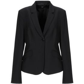《期間限定 セール開催中》TER DE CARACTRE レディース テーラードジャケット ブラック 46 ポリエステル 67% / レーヨン 31% / ポリウレタン 2%