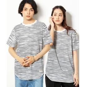 Purple&Yellow / パープルアンドイエロー ワッフル ロング Tシャツ