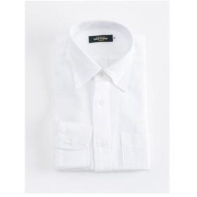 リネン100% ボタンダウンシャツ(ホワイト)【TEIJIN MEN'S SHOP】