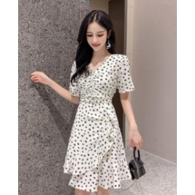 2点送料無料  春夏    レディース ワンピースドレス    気質ワンピース 韓国 ファッション 可愛い