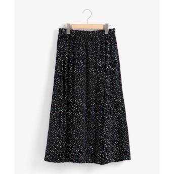 NIMES / ニーム Patterned Fabric イージーフレア-スカート(ドット