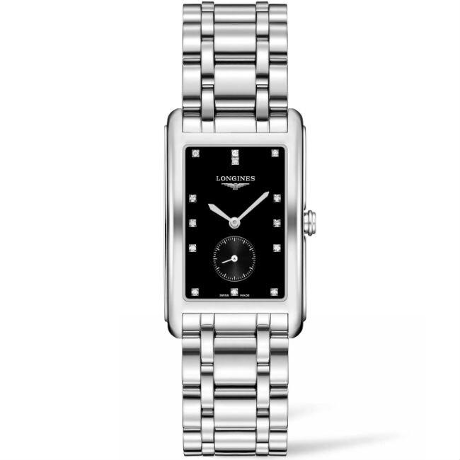LONGINES 浪琴表 L57554576 新多情時尚長方腕錶/米白面20.8*42mm